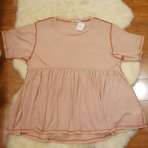 NWT Urban Outfitters Blush Pink Oversize Top Small